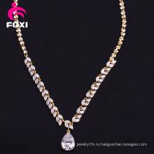 Изысканные ювелирные изделия 18k золото ожерелье Кулон Груша