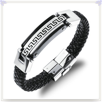 Stainless Steel Bracelet Leather Jewelry Leather Bracelet (LB100)