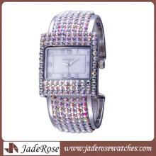 Reloj de pulsera de aleación de moda y pulsera para dama