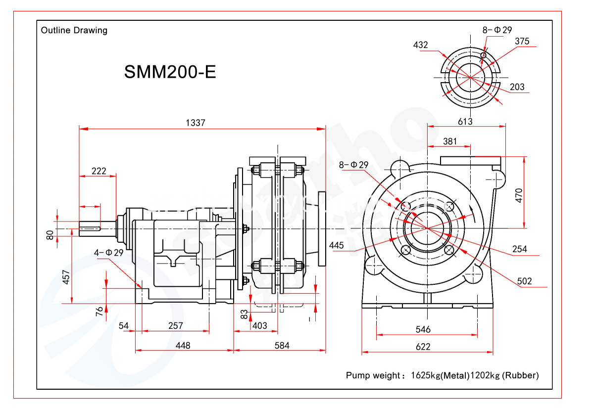 SMM200-E outline drawing