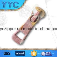 Type de curseur de verrouillage automatique et glissières de fermeture à glissière Type de produit Métal Gold Zipper Pulls