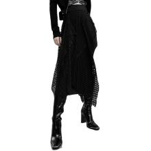 Women skirt spring style high waist straight patchwork hollow out mesh midi skirt OPQ-925BQF clothing women new design PUNK RAVE