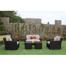 UV-beständiges Poly-Rattan-Sofa-Set für Outdoor-Garten oder Wohnzimmer Wicker Möbel