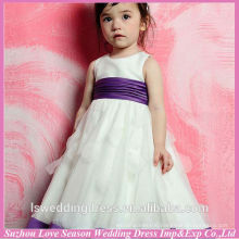 HF6001 cute girls dress for wedding with belt flower girl dress patterns free