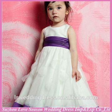 HF6001 jolies filles s'habillent pour mariage avec la ceinture