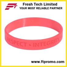 Pulseira de silicone promocionais com design personalizado