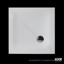 Bandeja de chuveiro de superfície contínua acrílica quadrada de 900mm / base