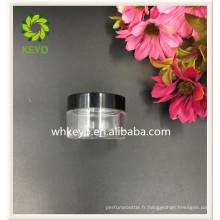 20g meilleure vente visage soin crème cosmétique récipient clair en plastique pot