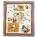 2016 Monkey Year Crib Patchwork Quilt with Lovely Monkeys for Baby