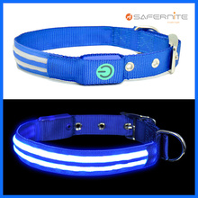 Malam Neon Menyala Anjing Collar And Leash