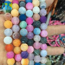 Bulk Stock 12MM Natural Round Loose Round Mixed Natural Weathering Agate Gemstone Matte Gemstone Beads