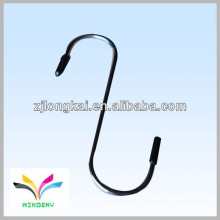 Functional black double supermarket display hanging wire hook
