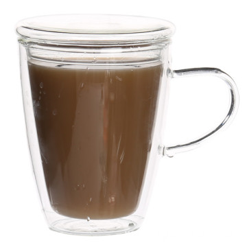 Best quality and factory for China Double Wall Glass Coffee  Mug,Handmade Glass Mug,Coffee Mug Manufacturer Cheap Heat Resistant Double Glass Coffee Cup supply to Cote D'Ivoire Factory