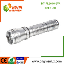 Factory Bulk Sale Most Powerful Aluminum Material Long Distance Brightest 5W Tactical Cree Led Torch For Free