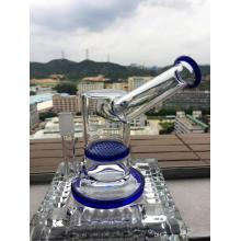 Vente en gros Feather Oil Egg Oil Rig Recycler Glass Smoking Pipe