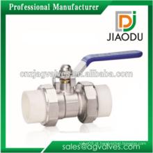 Yuhuan china fabricantes quadrado HP57-3 latão ppr dupla união válvula de esfera ppr pipe montagem DN20 DN25 DN32 1 1/4 1,2 3/4 polegadas