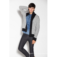 Fashion Lapel Knitting Men Cardigan with Button