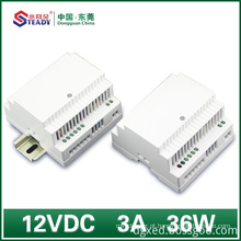 Fonte de alimentação 12VDC 36W 60W do trilho do ruído