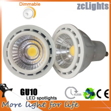 7W GU10 MR16 650lm LED luzes COB Spot