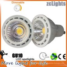 Лучшая цена Светодиодный прожектор 7W GU10 Светодиодная лампа с возможностью затемнения