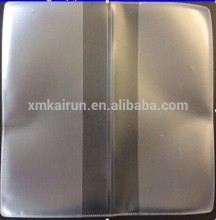 plastic transparent book cover/clear plastic book cover/plastic slip book covers