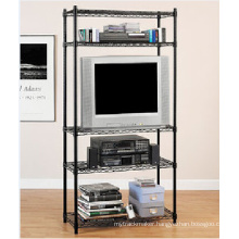 Black Wire Metal Rack for Home Living Room Use Storage (LD7535180A5E)