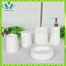 Elegant Distinctive White New Porcelain Bath Set