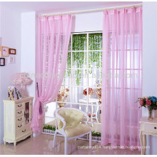 Hot sale european sheer curtains pink sheer curtain fabric