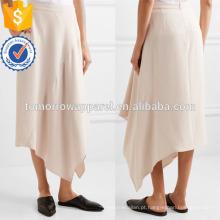 Nova Moda Asymmteric Stretch Drape Verão Mini Saia Diária DEM / DOM Fabricação Atacado Moda Feminina Vestuário (TA5016S)