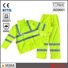 Hoodie PU High Visibility Reflective Safety Rain Suit