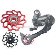 Mountain bike guia roda bicicleta Jockey Wheel Jockey Wheel 7075 CNC Ceramic Jockey Wheel