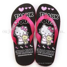 Impressão personalizada EVA Casa Mulheres Chinelos Flip Flop