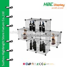 8 shelf display shelf wire storage cube mesh cage panel