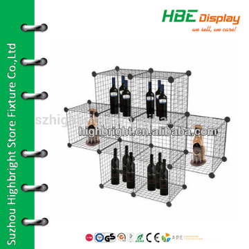 8 shelf display shelf wire storage cube mesh cage panel