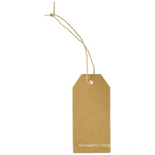 Promotional Gift Tags Kraft Hang Tags with Free Cut Strings for Gifts Crafts and Price Tags