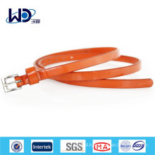 2016 fashion orange skinny belts for dress