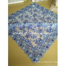 St16-24 tecido de renda cor azul