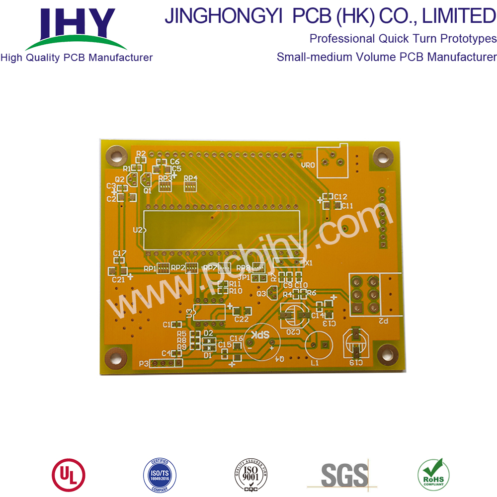 Yellow 4 Layer 2.4mm Quick Turn PCB