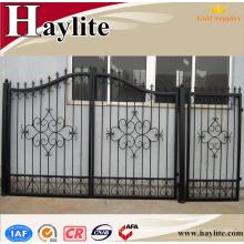 puerta corredera de la casa principal para villas diseño de la puerta de la tubería de hierro de la casa