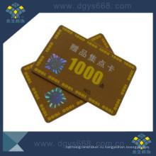 Smart Hot Stamping Plastic Membership Card for Anti-Fake