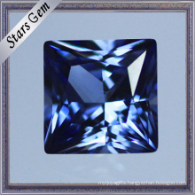 Excellent Square Princess Cut Synthetic Corundum Sapphire