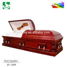 JS-A609 best-seller caixão de mogno Presidente de boa qualidade