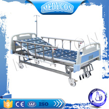 Stainless steel multifunctional 4 crank manual hospital bed