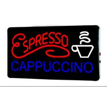 Cappuccino espresso signo LED