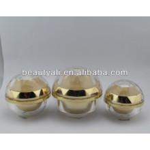 Crème à tarte acrylique en forme de boule Emballage 5ml 15ml 20ml 30ml 50ml 80ml 100ml