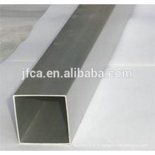 Série 5000 série tube en aluminium carré épaisseur différente
