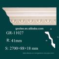 Moldura de Corona PU de Alta Densidad Blanca para Techo