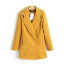 OEM Winter Coat Hot Sale Plus Size Long Woolen Women Overcoat