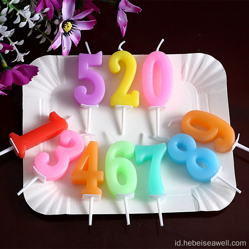 High quality color birthday digit/number candle