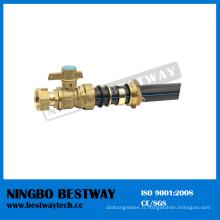 Robinet à tournant sphérique verrouillable en laiton de haute performance avec le tuyau de HDPE (BW-L01A)
